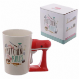Kitchen Mixer Shaped Handle Mug
